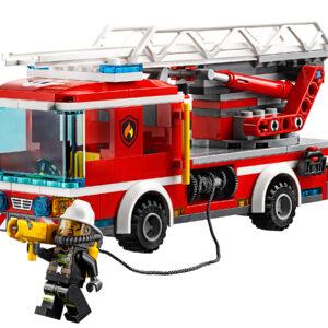Lego City 60107 | Feuerwehrfahrzeug mit fahrbarer Leiter | 3