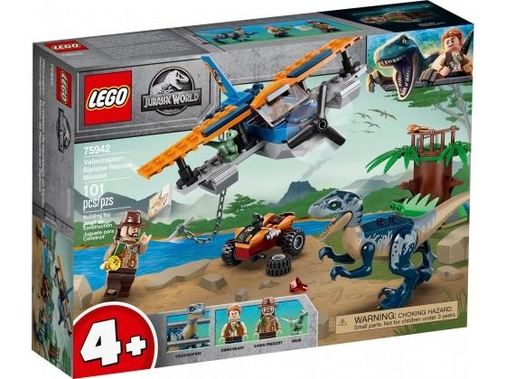 LEGO® Jurassic World Velociraptor: Rettungsmission mit dem Doppeldecker 75942   günstig kaufen