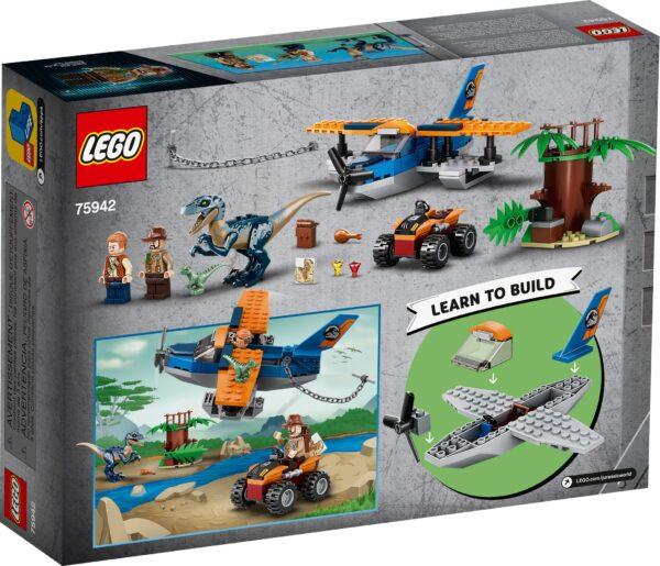 LEGO® Jurassic World Velociraptor: Rettungsmission mit dem Doppeldecker 75942   2