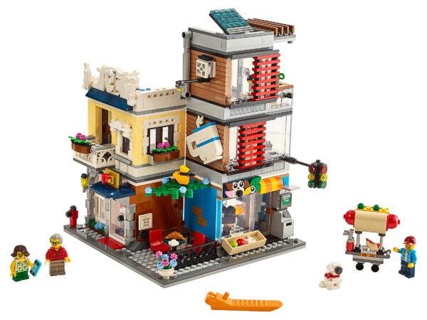 LEGO® Creator Stadthaus mit Zoohandlung & Café 31097   3