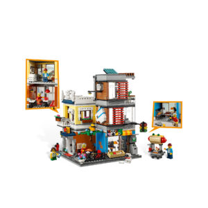 LEGO® Creator Stadthaus mit Zoohandlung & Café 31097   5